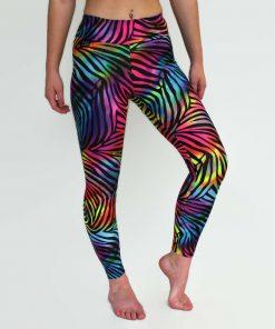 rainbow zebra leggings