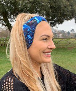 blue fleece headband
