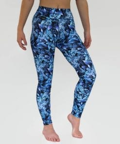blue winter wonderland leggings