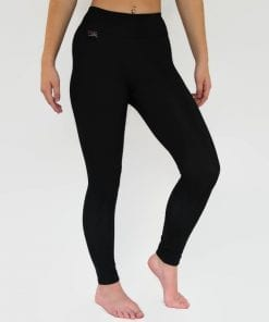 black fleece lined thermal leggings