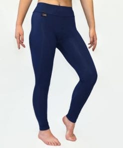 midnight blue thermal leggings