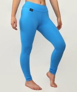 turquoise blue thermal leggings