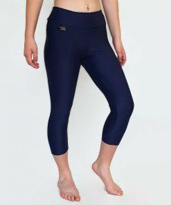 navy lycra capri leggings
